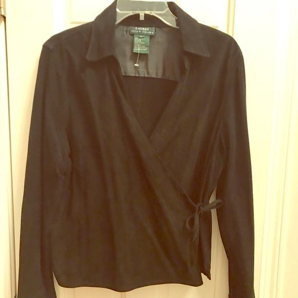 Ralph Lauren Jackets & Blazers - Ralph Lauren Black suede wrap jacket